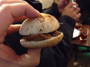 mini hamburguesa de jabali