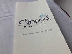 Carta Hotel Escuela Las Carolinas