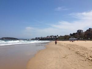 Paseo por la playa del Sardinero Santander
