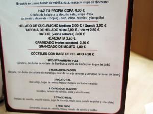Carta Heladeria Gibu Santander