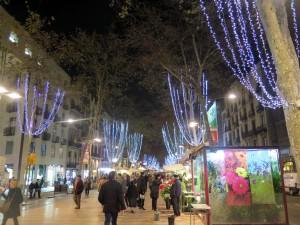 Las Ramblas de Barcelona en Navidad