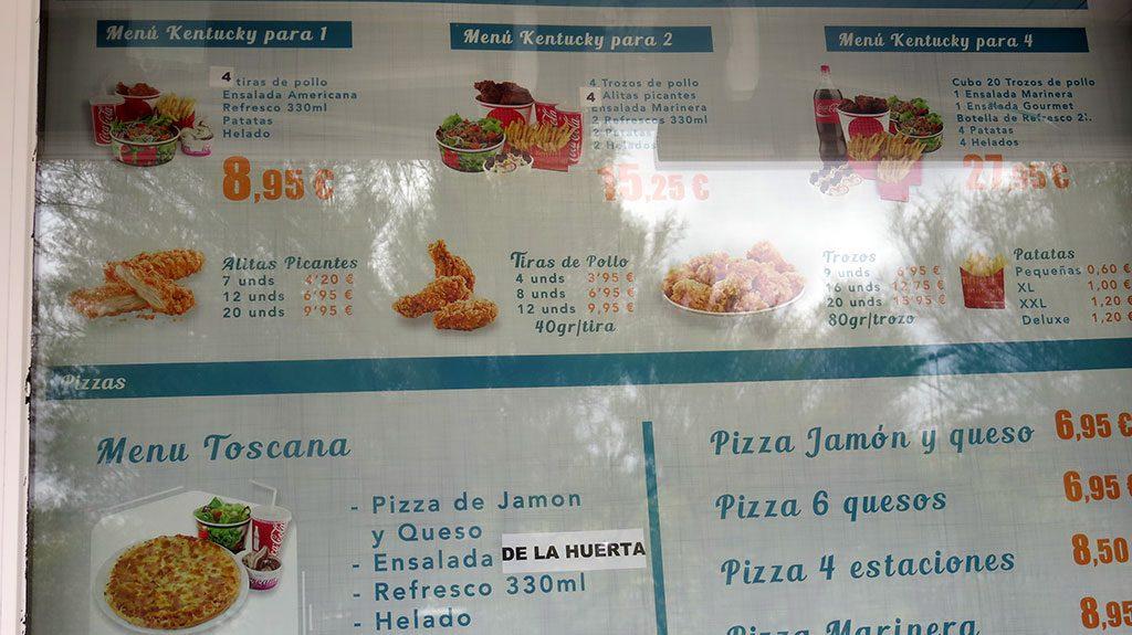 Carta Foodies Santander