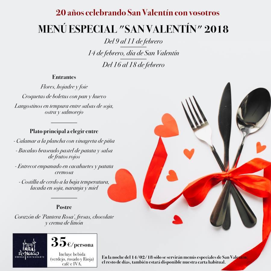 Restaurante el Palacio - San Valentín