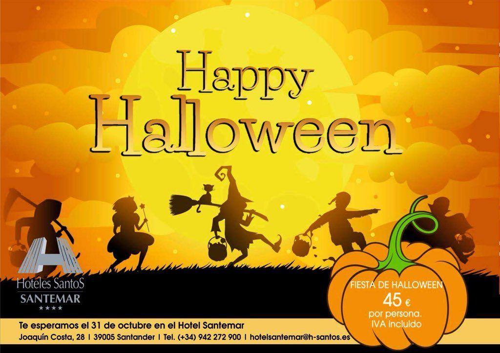 Fiesta Halloween Hotel Santemar 2018