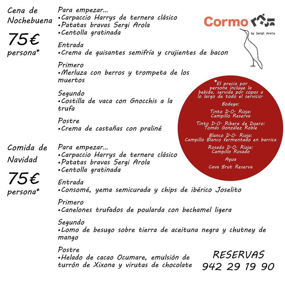 Cena nochebuena en Santander 2018  - Cormorán