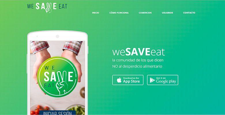 No desperdiciar comida - WeSaveEat