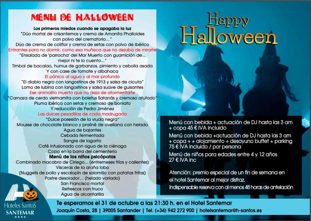 Fiesta Halloween 2019 en Santander - Hotel Santemar