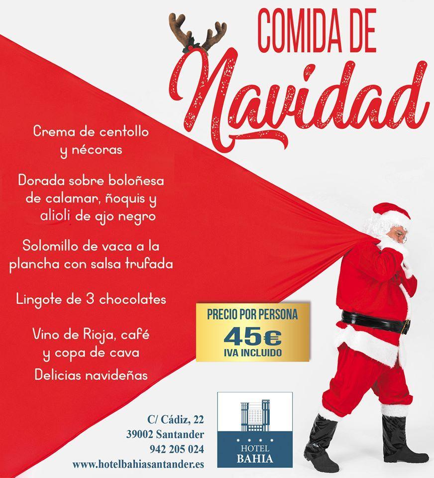 Comida de Navidad de 2019 en Santander - Hotel Bahía