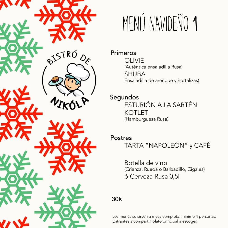 Menú Navidad 2019 Santander - Comida Rusa - Bistró de Nikóla