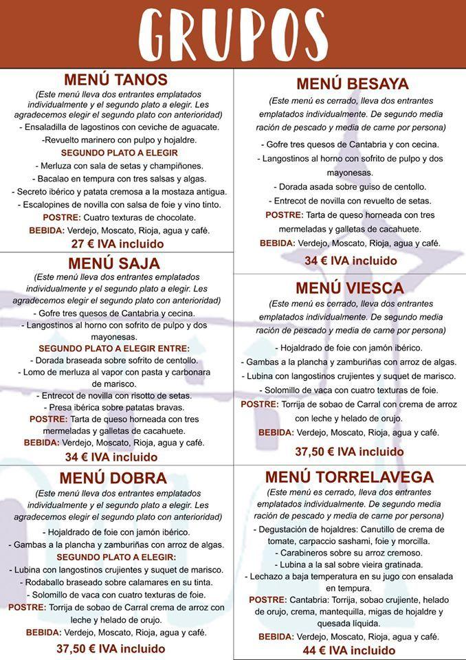 Menús de Navidad 2019 para empresas en Cantabria