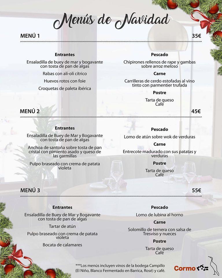 Menús de Navidad Santander 2019 - Cormorán