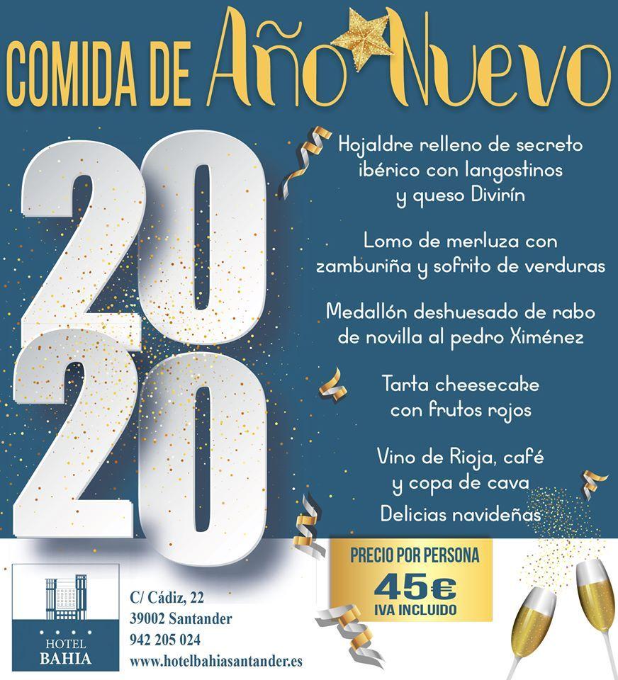 Comida Año Nuevo 2020 en Santander - Hotel Bahía