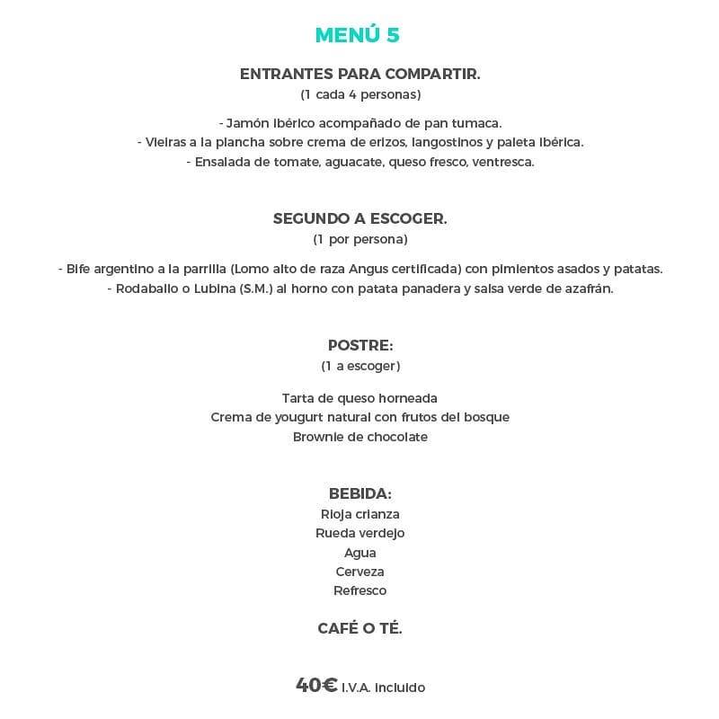 Menú de Navidad 2019 Santander - La Candelita
