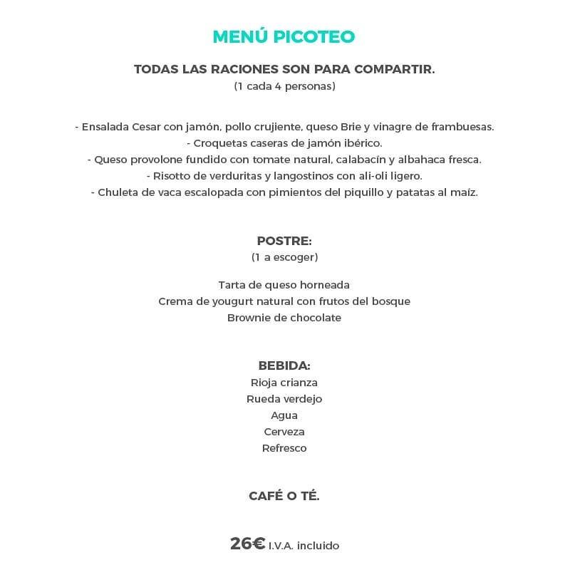 Menú de Navidad 2019 Santander Picoteo - La Candelita