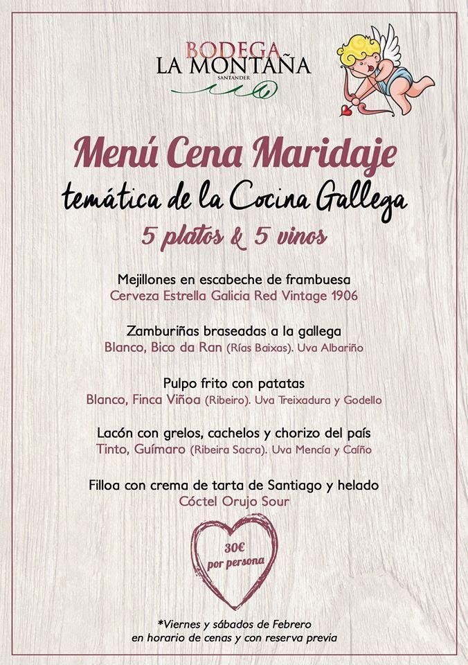 Cena - Maridaje San Valentín 2020 - Santander