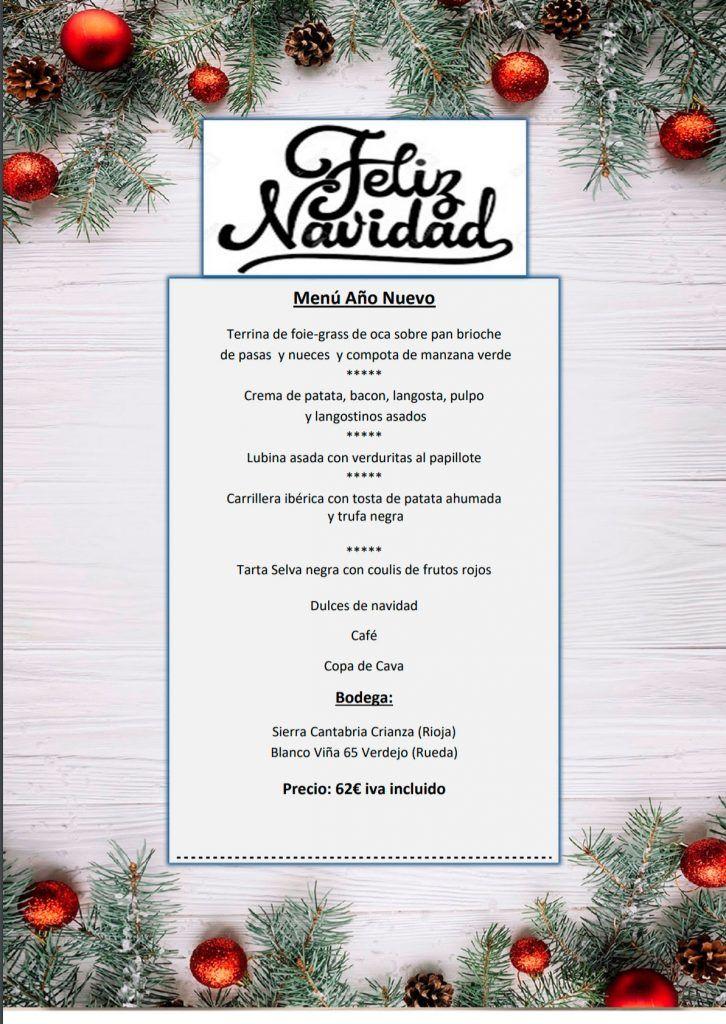 Menú de Año Nuevo para llevar 2020 - Restaurante Maremondo