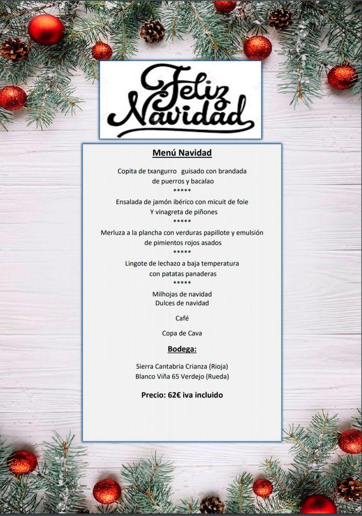 Menú de Navidad para llevar 2020 - Restaurante Maremondo