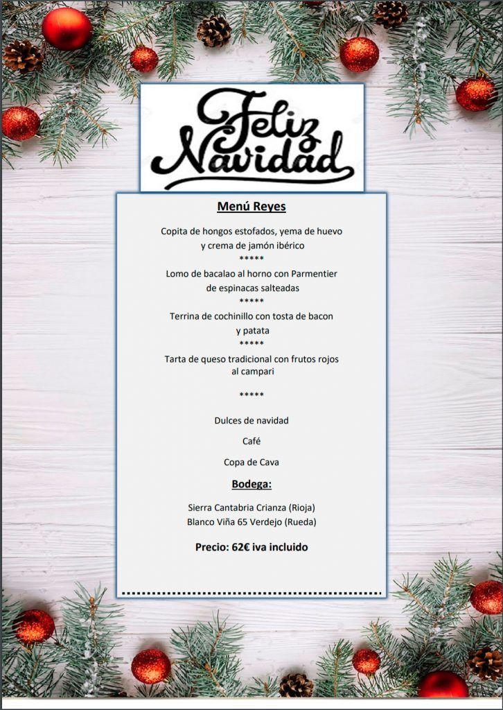 Menú de Reyes para llevar 2020 - Restaurante Maremondo